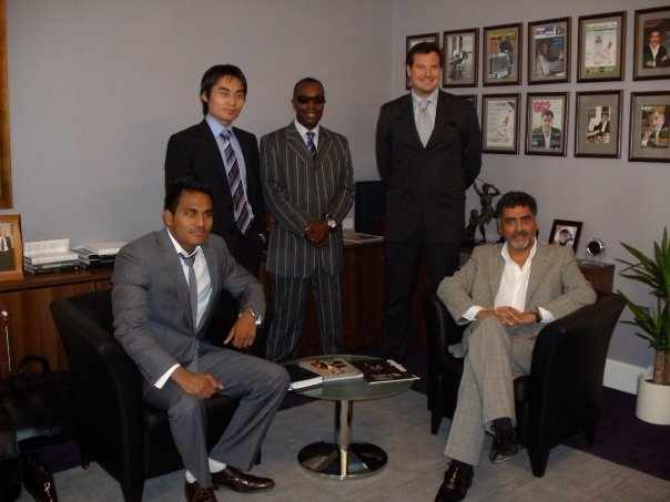 The Blak Pearl team with James Caan