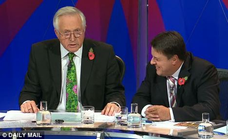 Nick Griffin's bizarre smirking tactic comes out again.